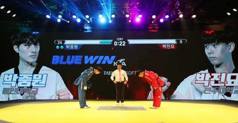 格闘ゲームのようになった韓国のテコンドー大会
