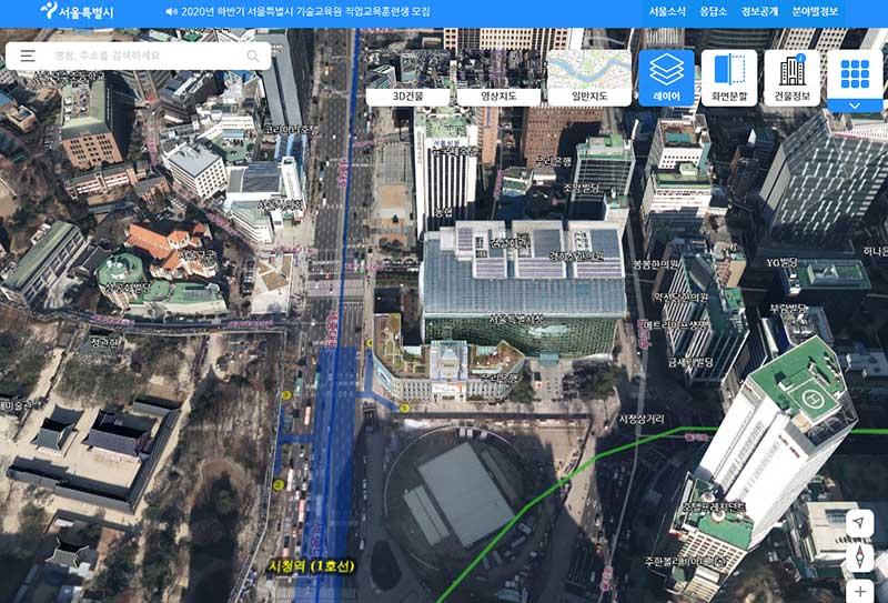 ソウル市の3Dマップ化、S-MAP公開