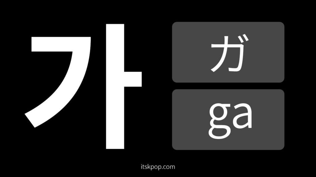 韓国語の勉強 – カナダラの読み方(発音) カード ver